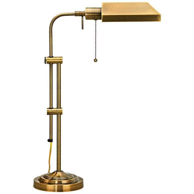 Antique Brass Adjustable Pole Pharmacy Metal Desk Lamp