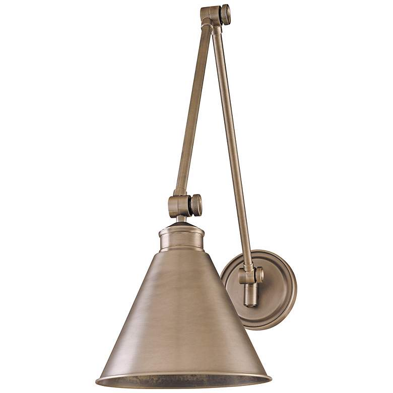 Hudson Valley Exeter Antique Nickel Swing Arm Wall Light