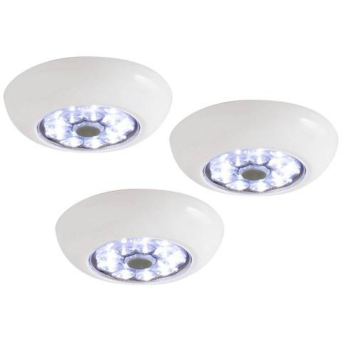 Set of 3 Fulcrum Anywhere Light XB LED Puck Lights