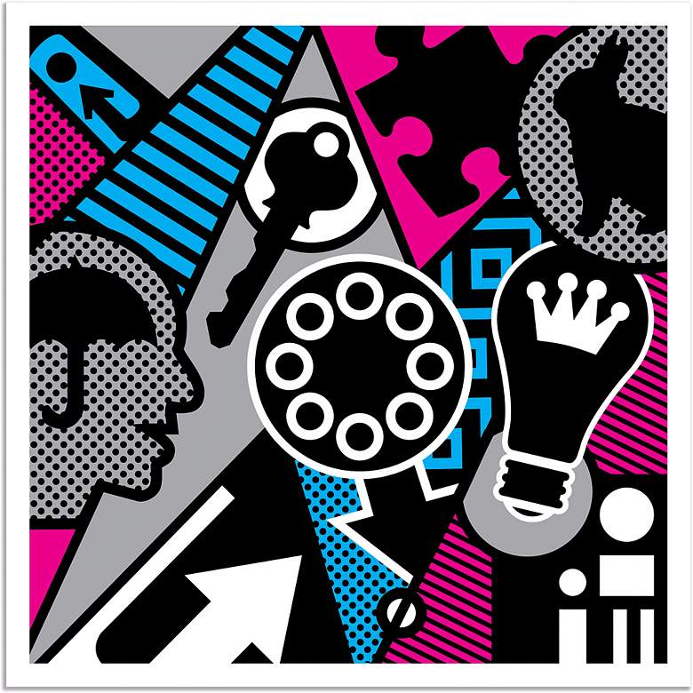 """Pop Psychology 30"""" Square Giclee Wall Art Poster"""