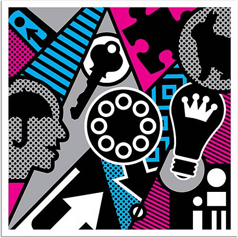 """Pop Psychology 36"""" Square Giclee Wall Art Poster"""