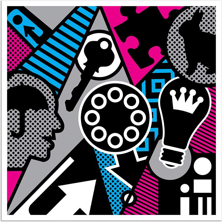 """Pop Psychology 40"""" Square Giclee Wall Art Poster"""