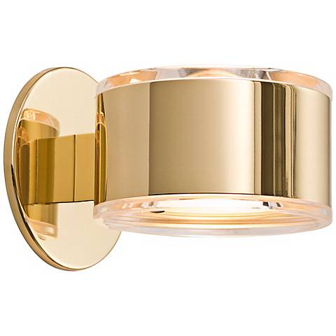 "Holtkoetter Up-Down 5 1/4"" Wide Polished Brass Wall Sconce"