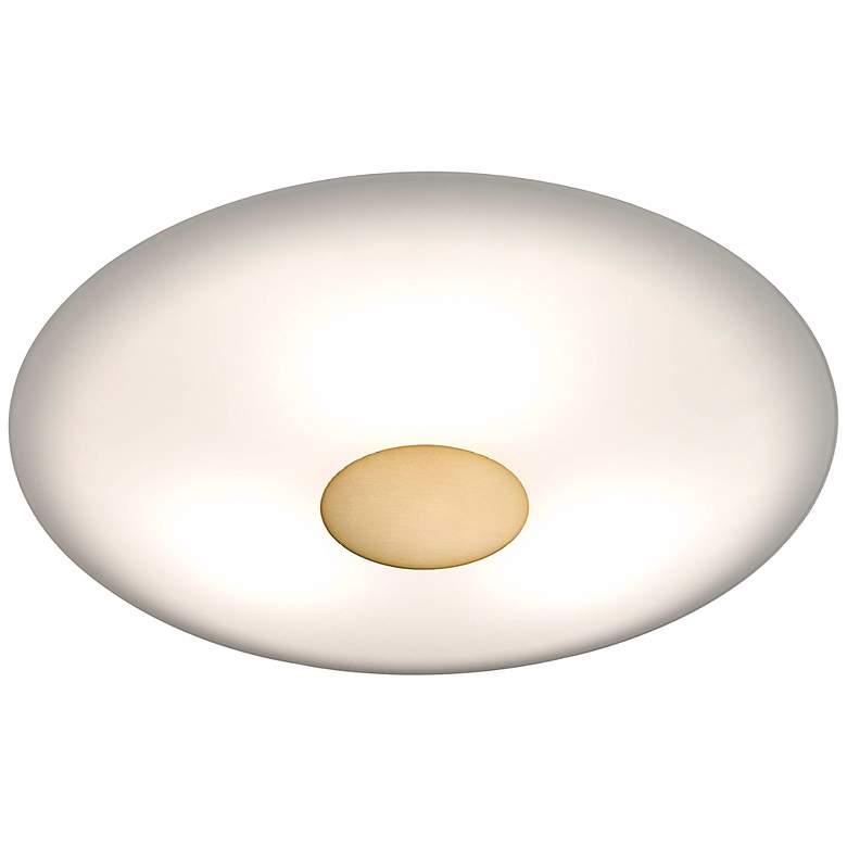 "Holtkoetter Opalika 12 1/2"" Wide Antique Brass Ceiling Light"
