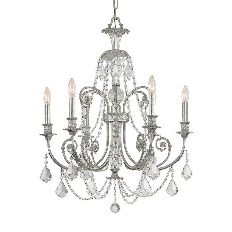 "Crystorama Regis Collection Old Silver 26"" Wide Chandelier"