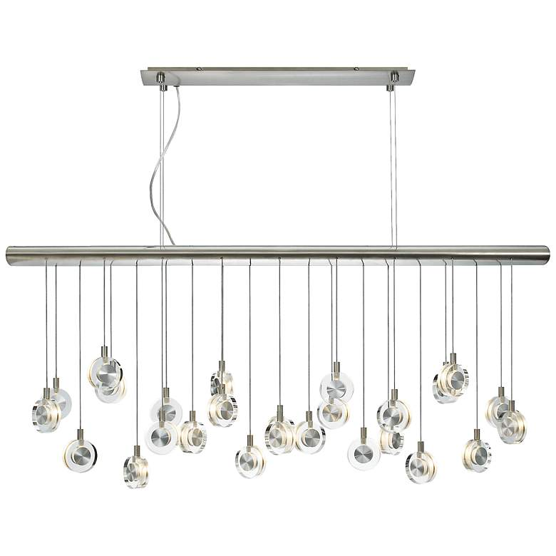 "Bling Crystal Discs 41 1/4"" Wide Chandelier"