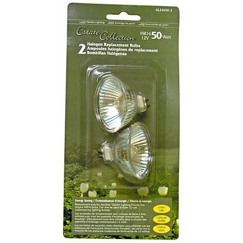 Halogen MR16 12-Volt 50 Watt 2-Pack Light Bulbs