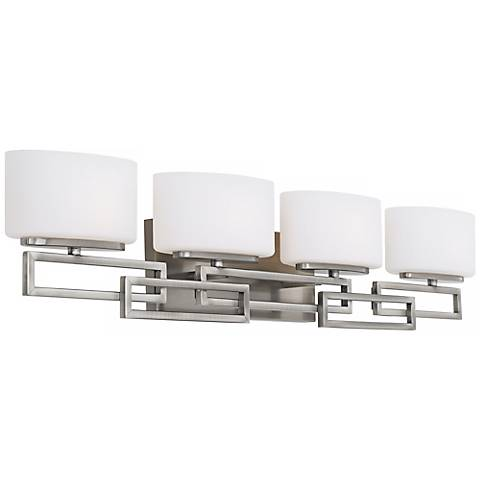 "Hinkley Lanza Nickel 34"" Wide Bathroom Wall Light"