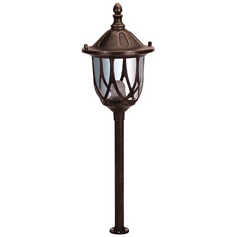 Stanford Rust Finish Outdoor Landscape Post Light