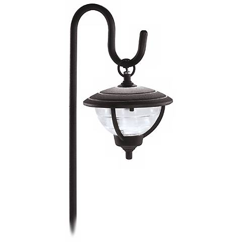 Palm Island Shepherd's Hook Black Landscape Light