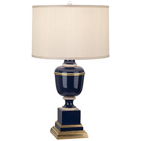 Mary McDonald Annika Cobalt Cloud Cream Shade Table Lamp
