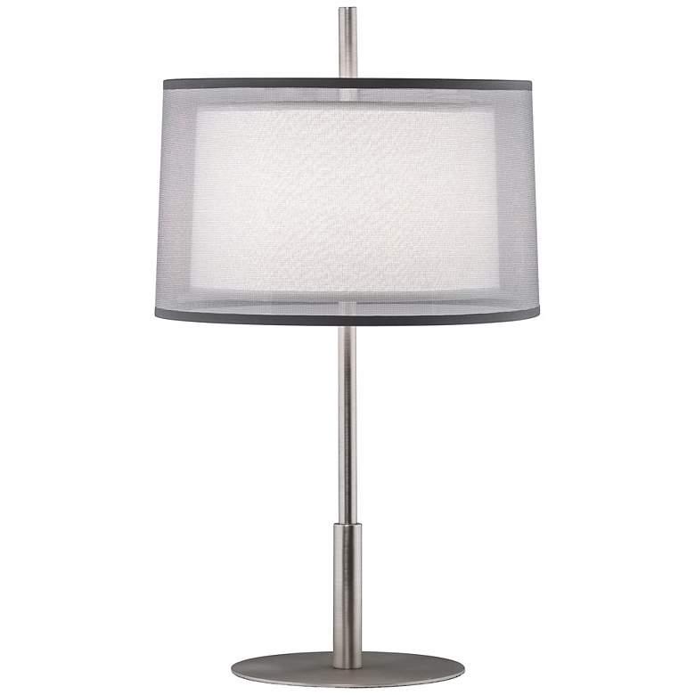"Robert Abbey Saturnia Steel 22 3/4"" High Table Lamp"