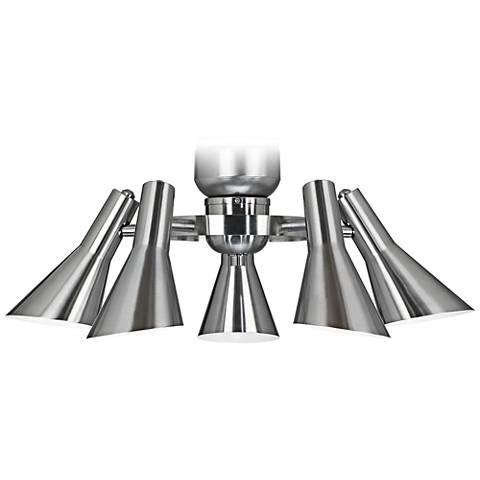 Retro Brushed Nickel Ceiling Fan Light Kit