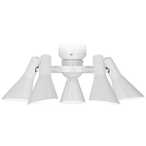 Modern ceiling fan light kit in white r1741 lamps plus modern ceiling fan light kit in white mozeypictures Image collections