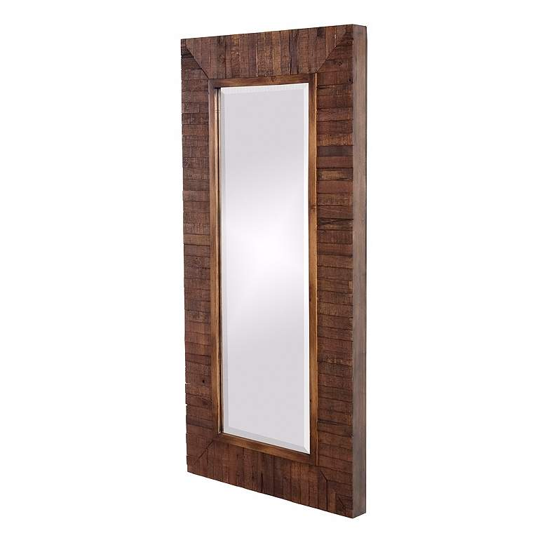 """Timberlane Faux Walnut Stained 24"""" x 48"""" Wall Mirror"""