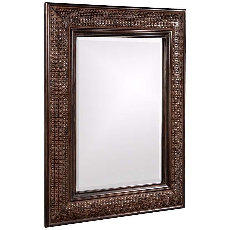 "Grant Textured Copper 31"" x 39"" Wall Mirror"