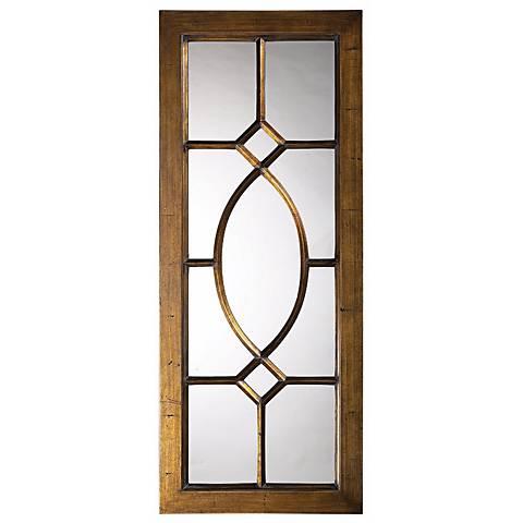 "Dayton Bronze Window 21"" x 53"" Wall Mirror"