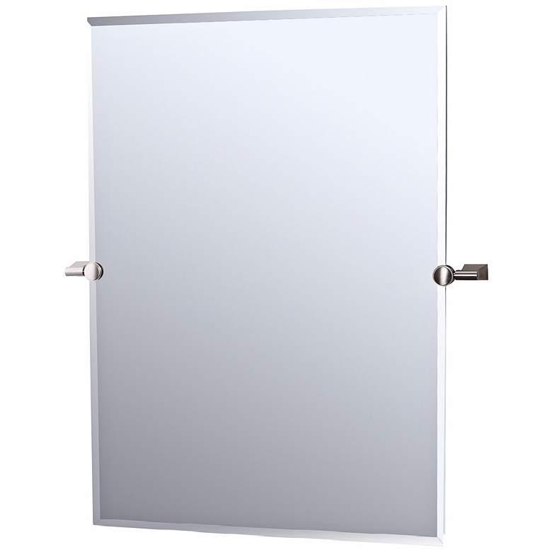 Gatco Bleu Satin Nickel 28 X 32 Tilting Wall Mirror