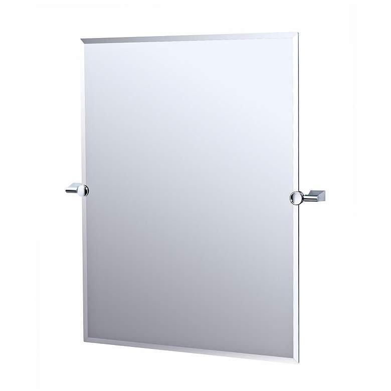 "Gatco Chrome Bleu 32"" High Tilting Wall Mirror"