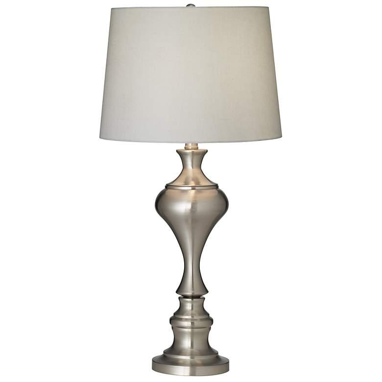 Brushed Nickel Urn Table Lamp by Regency Hill