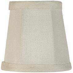 Up to 4 in lamp shades lamps plus imperial collection creme fabric lamp shade 3x4x4 clip on aloadofball Gallery