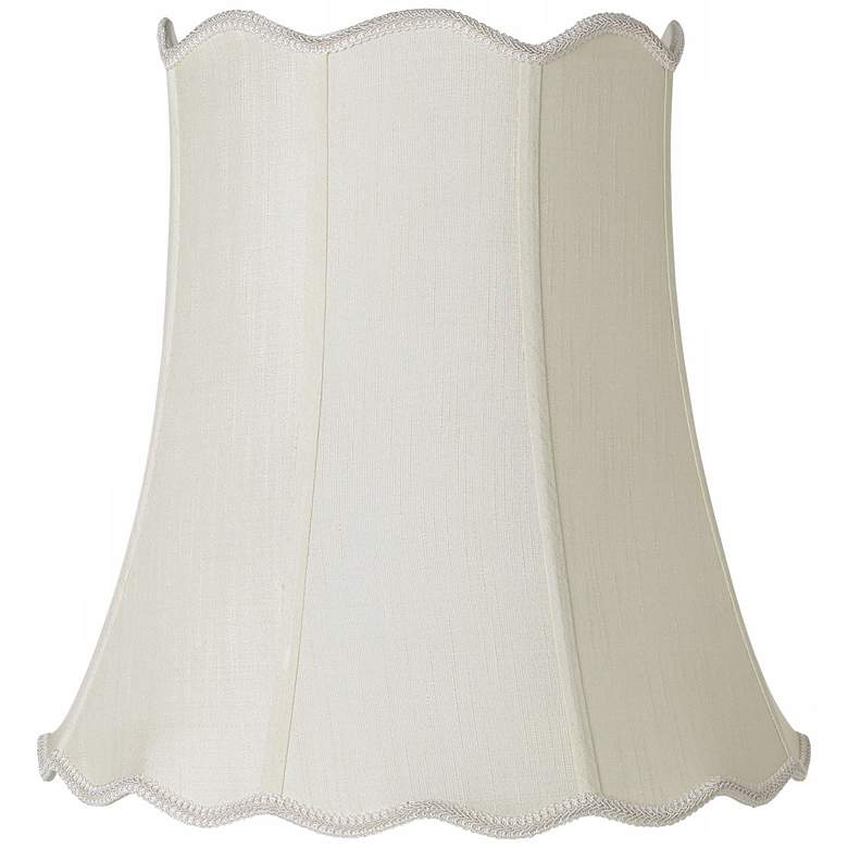 Imperial Creme Scallop Bell Lamp Shade 12x18x18 (Spider)