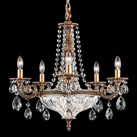 """Schonbek Milano 21""""W Florentine Bronze Crystal Chandelier"""