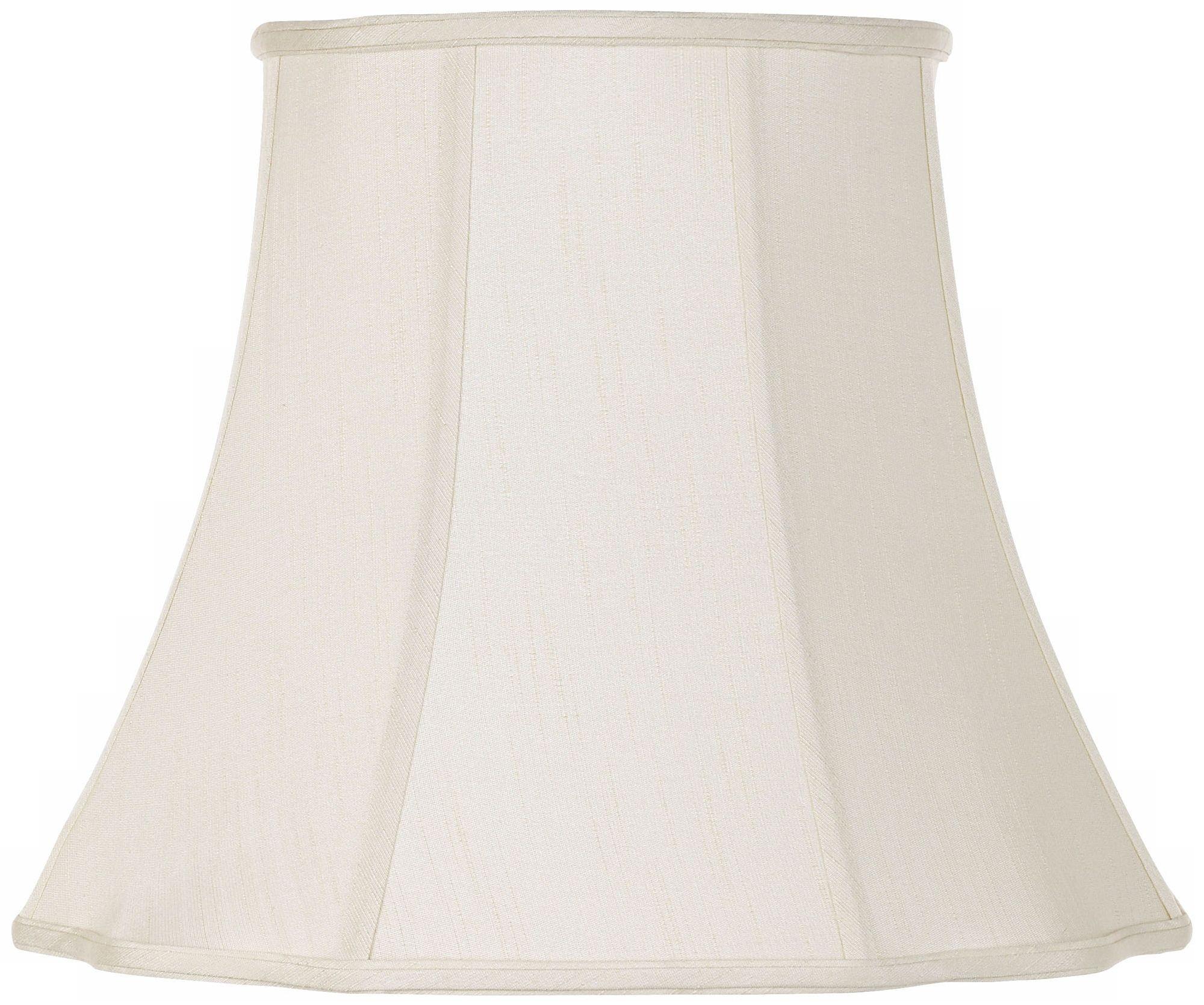 Charmant Creme Bell Curve Cut Corner Lamp Shade 11x18x15 (Spider)