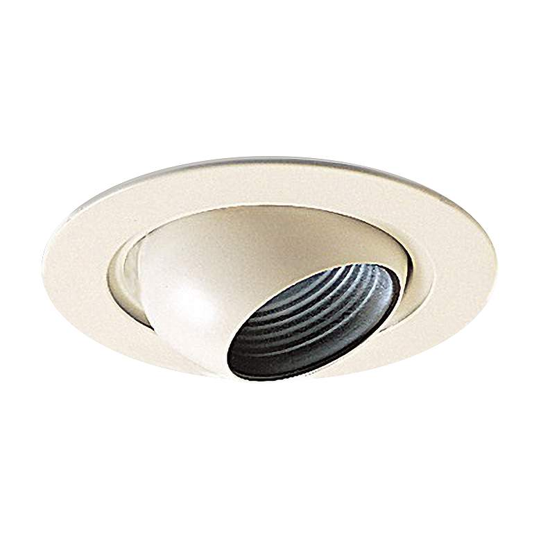 "Nora 4"" White on White Adjustable Eyeball Recessed Trim"