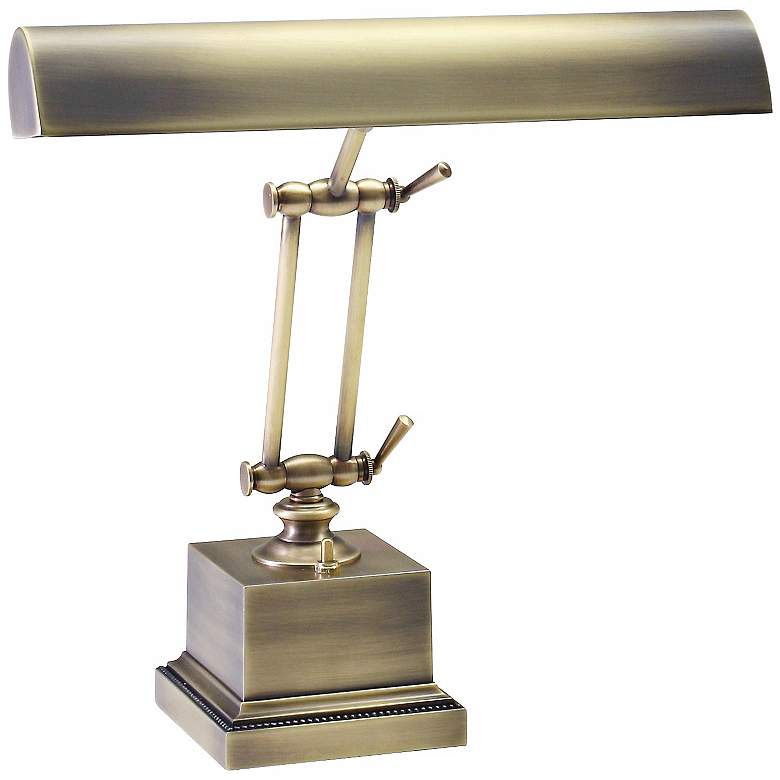 """House of Troy 13"""" High Brass Twin Arm Piano Desk Lamp"""
