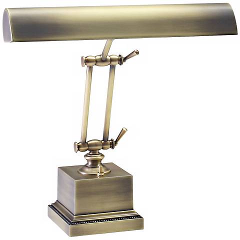 "House of Troy 13"" High Brass Twin Arm Piano Desk Lamp"