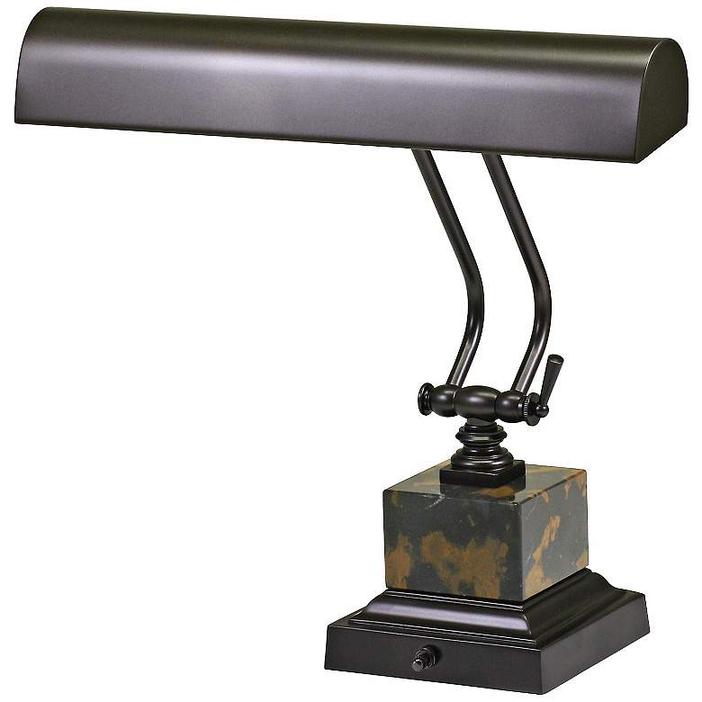 """House of Troy 12"""" High Bronze and Marble Piano Desk Lamp"""