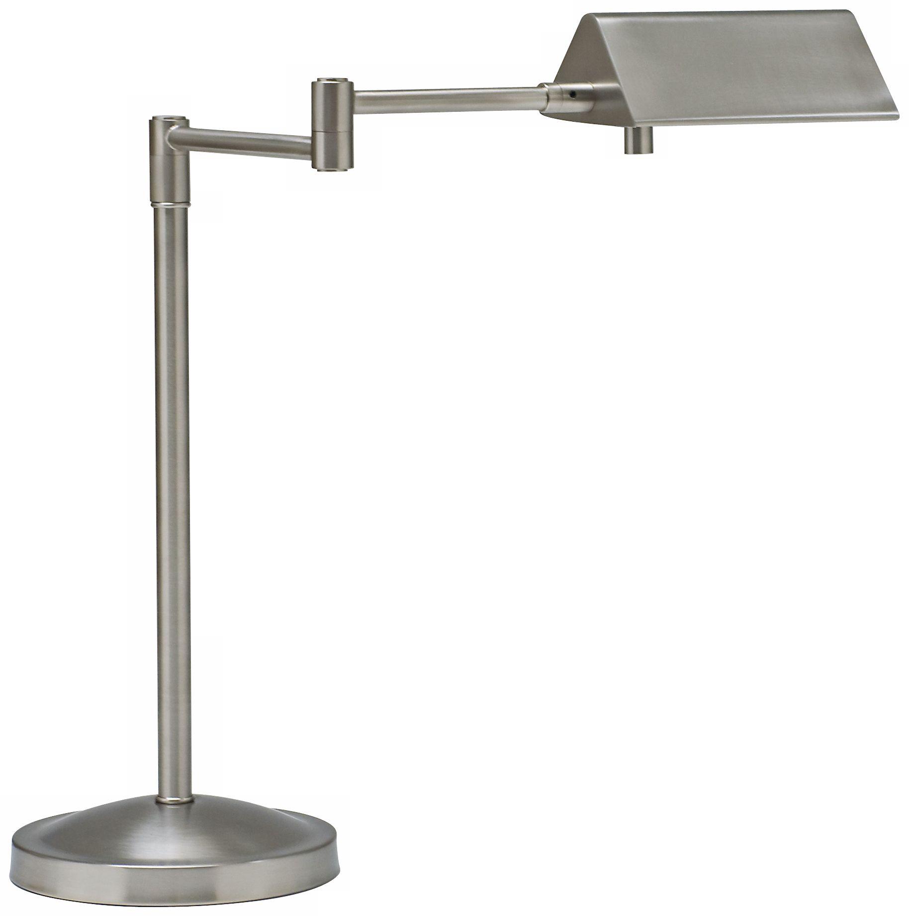 Charmant House Of Troy Pinnacle Satin Nickel Swing Arm Desk Lamp
