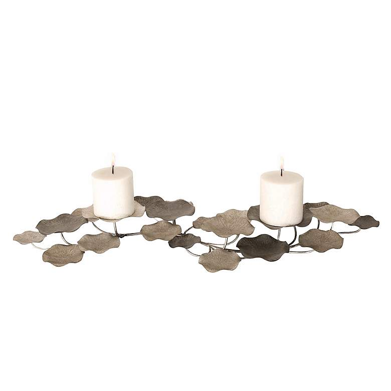 Lying Lotus Flower Candle Holder by Uttermost