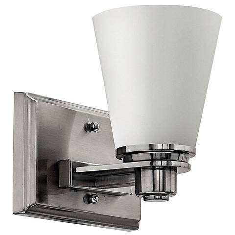 """Hinkley Avon Collection 7 1/2"""" High Nickel Wall Sconce"""