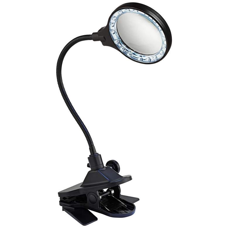 LED Gooseneck Clip Light with Magnifier Lens