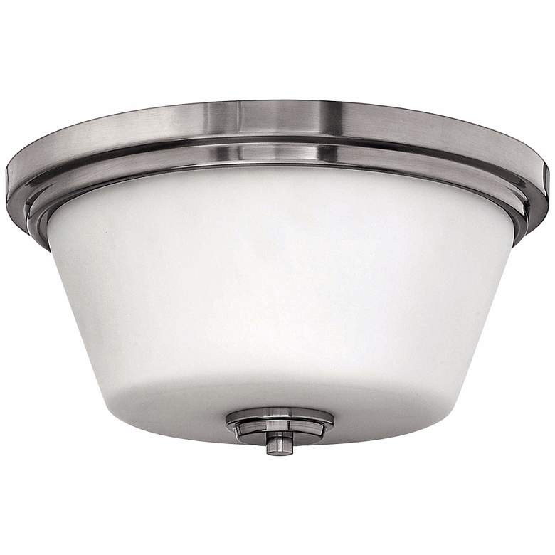 """Hinkley Avon Collection Nickel 15"""" Wide Ceiling Light"""