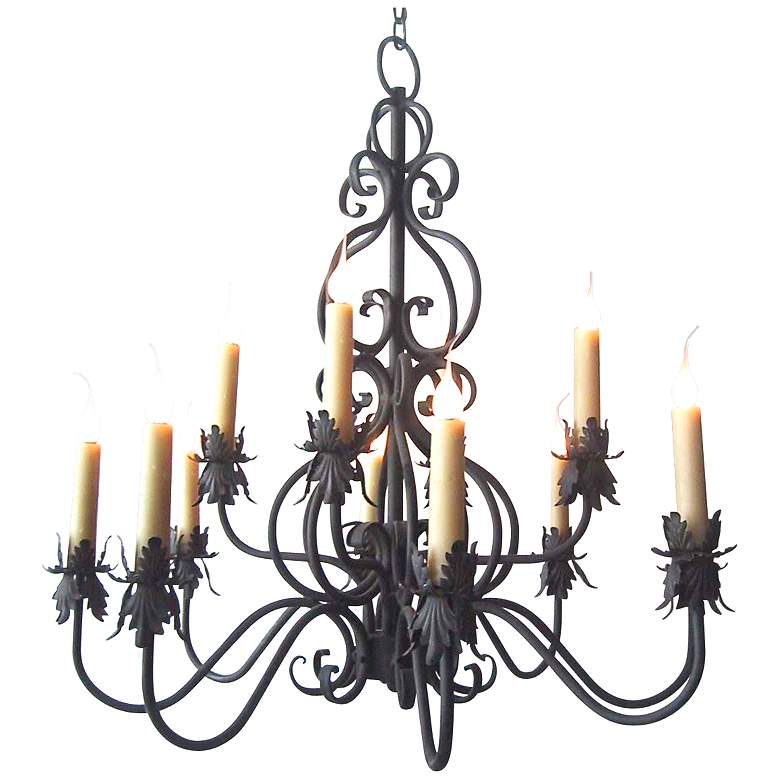 "Laura Lee Juliet 12-Light 36"" Wide Iron Chandelier"