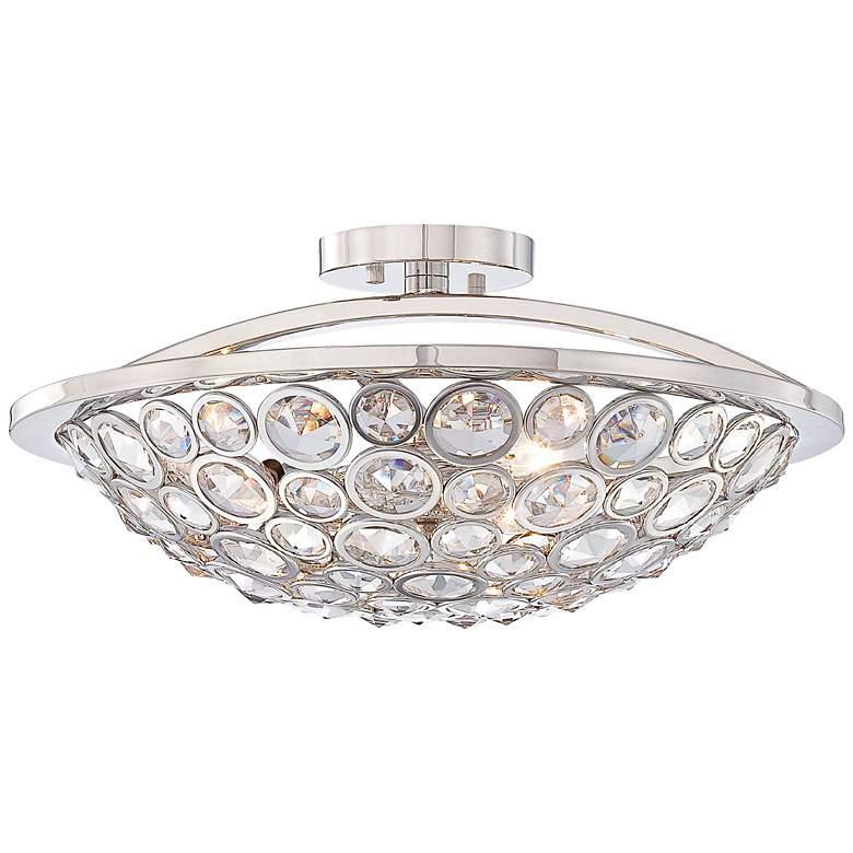 """Metropolitan Magique 18"""" Wide Crystal Ceiling Light"""