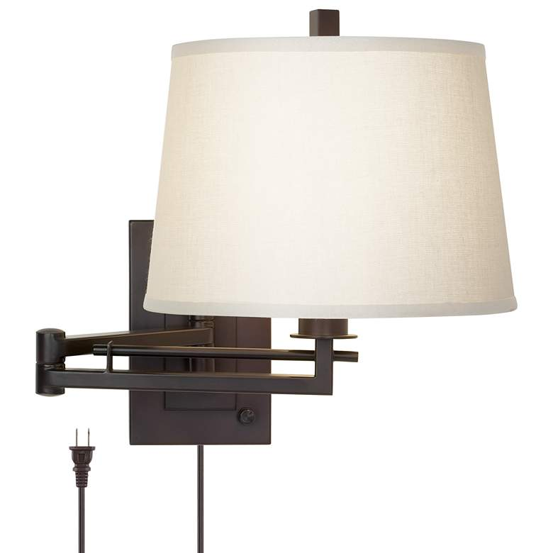 Easley Matte Bronze Plug-In Swing Arm Wall Lamp