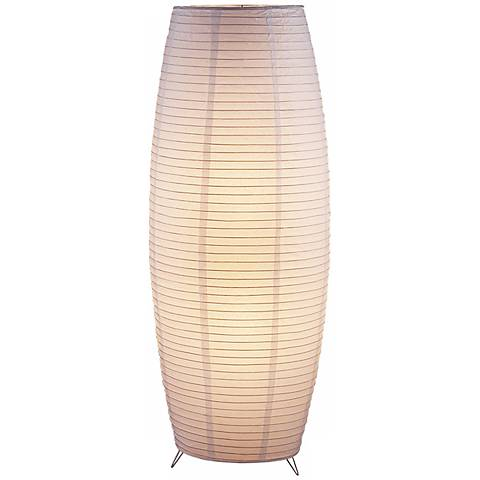 Collapsible Bamboo Rice Paper Lantern Floor Lamp