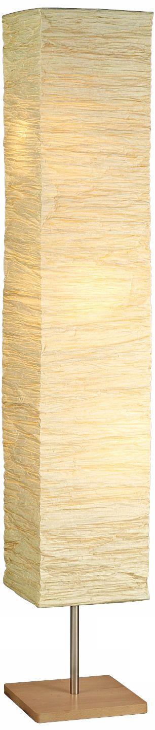 Lovely Crinkle Paper Square Floor Lamp