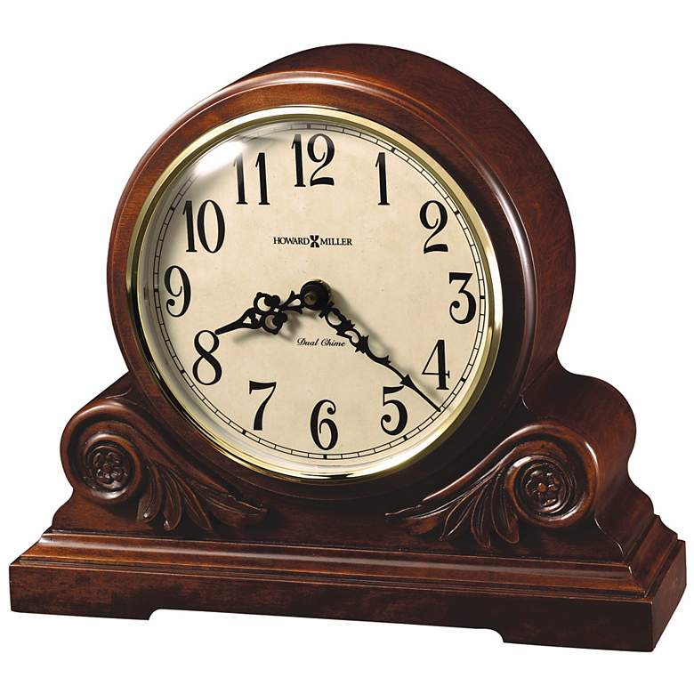 "Desiree 12 1/4"" Wide Chiming Table Mantel Clock"
