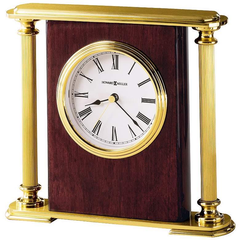 """Howard Miller Rosewood Encore 7"""" Wide Tabletop Clock"""