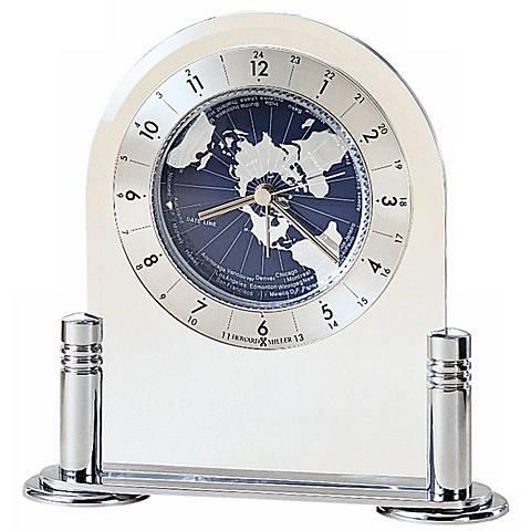"""Howard Miller Discoverer 6 1/4"""" High Desk Alarm Clock"""