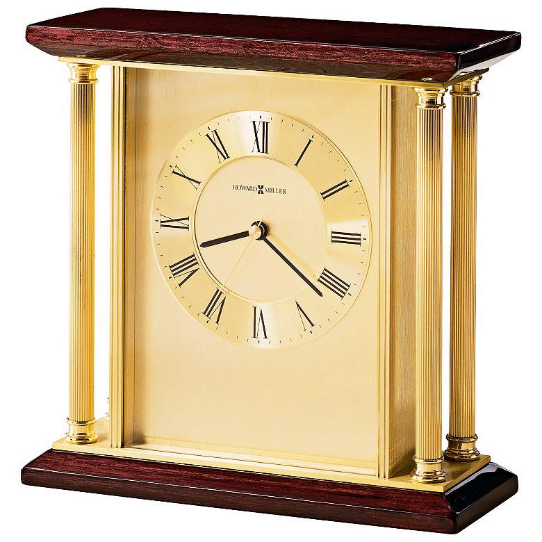 "Howard Miller Carlton 9"" Wide Traditional Desk Clock"
