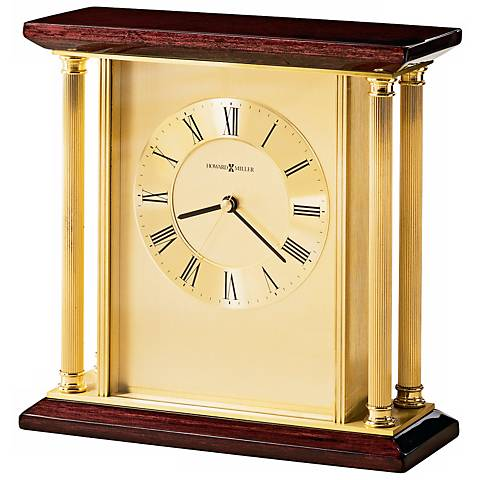"Howard Miller Carlton 9"" Wide Desk Clock"