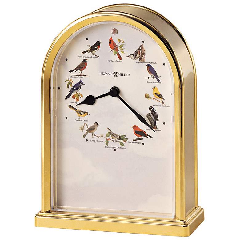 Howard Miller Songbirds of North America III Tabletop Clock