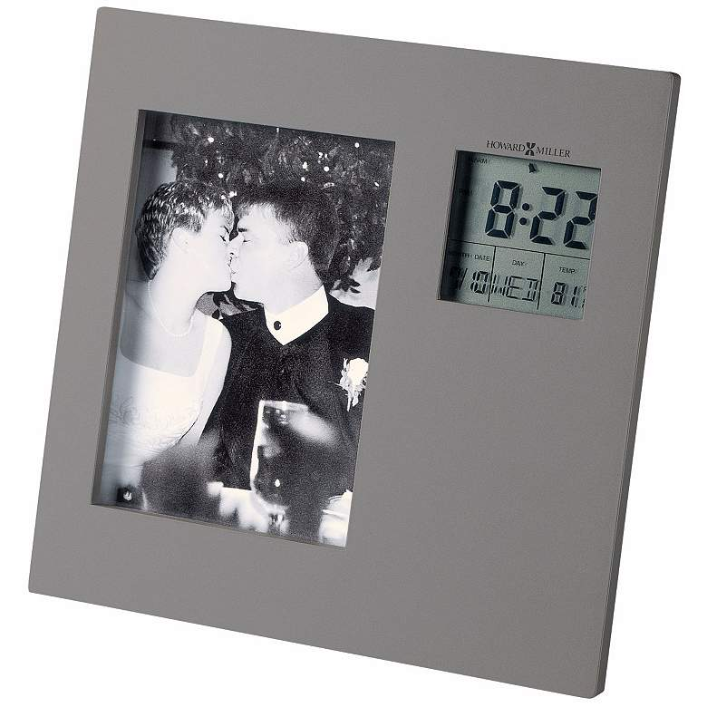 """Howard Miller Picture This 7"""" High Alarm Clock"""