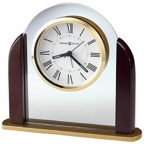 """Howard Miller Derrick 6 3/4"""" Wide Alarm Clock"""